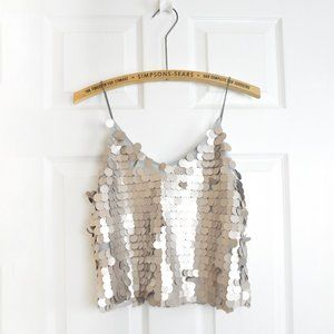LUNA Sequin Sparkle Party Cami Cropped